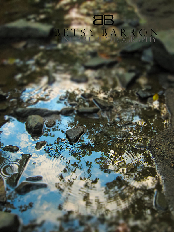 water, puddle, rocks, sky, blue, ripple