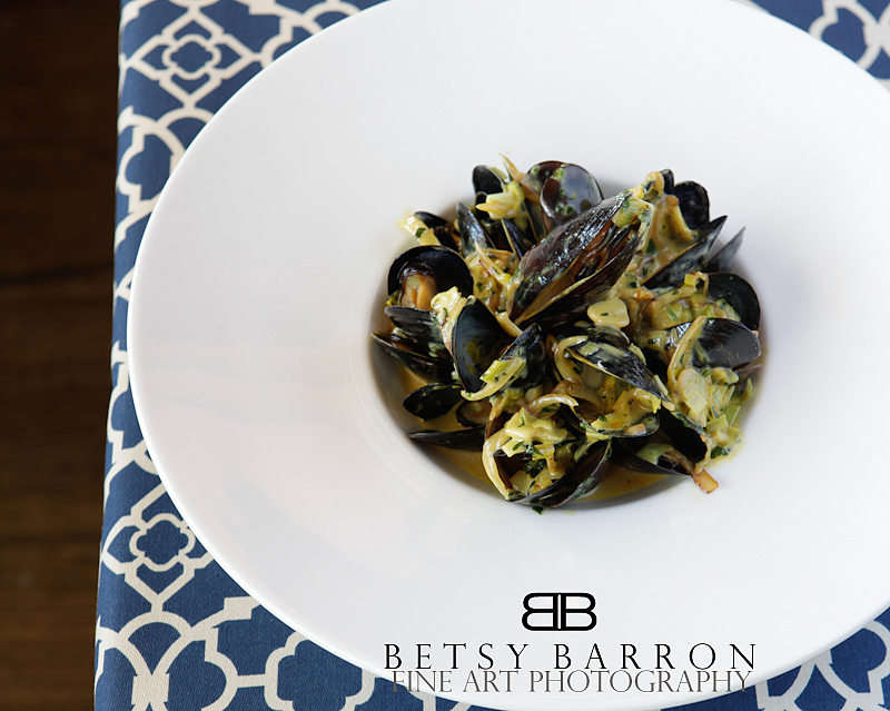 geometric, blue, mussels, plate, food, seafood