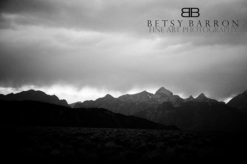 jackson, tetons, mountains, wyoming, bw, grain