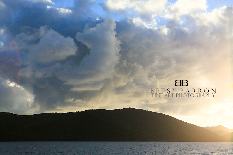 island, bvi, virgin, gorda, cloud, sun, sky, storm