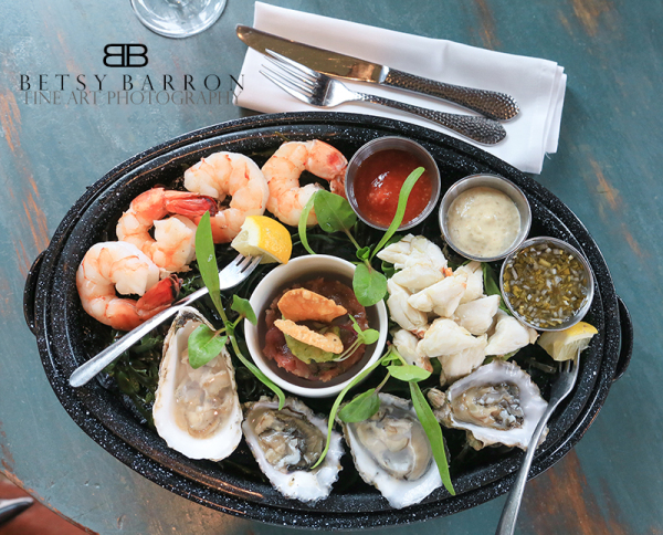 seafood, platter, crab, shrimp, oysters, dinner