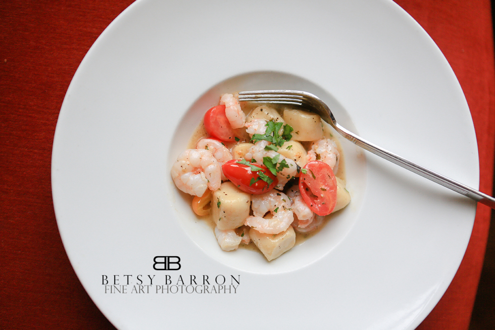 gnocchi, red, plate, dinner, food, italian