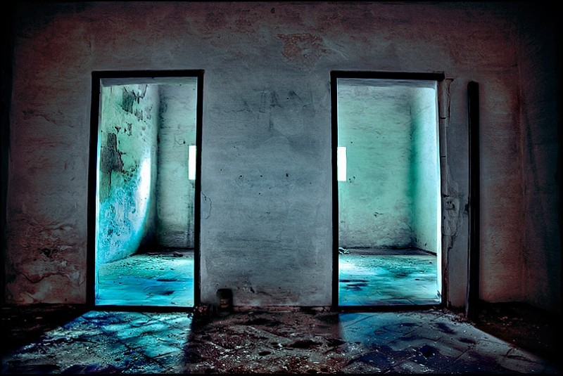 the doors abandoned desolated house