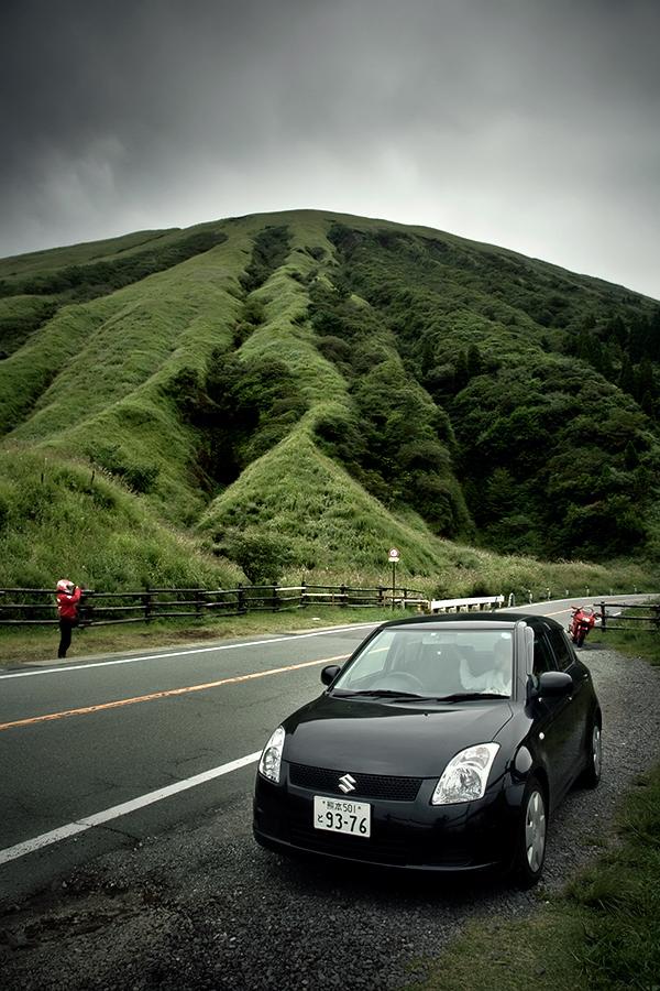 aso volcano in kumamoto japan