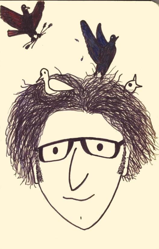 Jason Maxey cartoon drawing birds