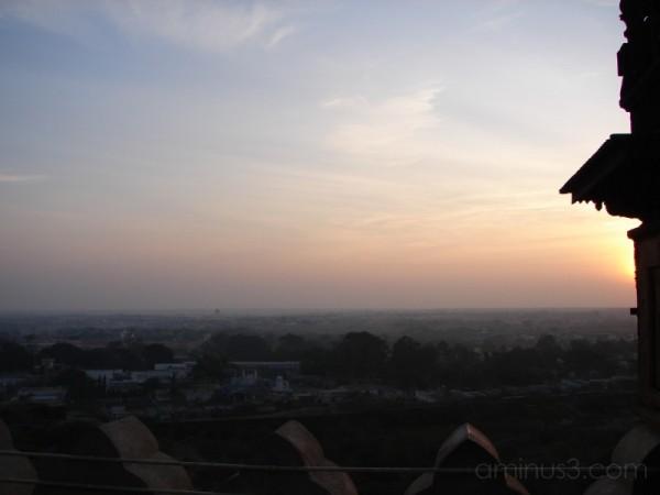 Sunrise as seen from Gol-Gumbaz
