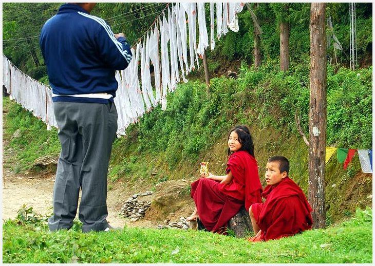 Sikkim Buddhist Monastery Young Monks