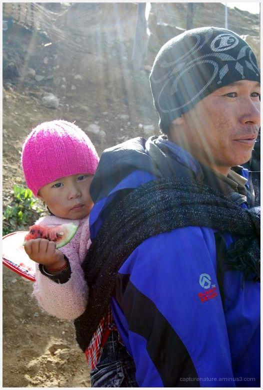 Lachung Sikkim people watermelon child