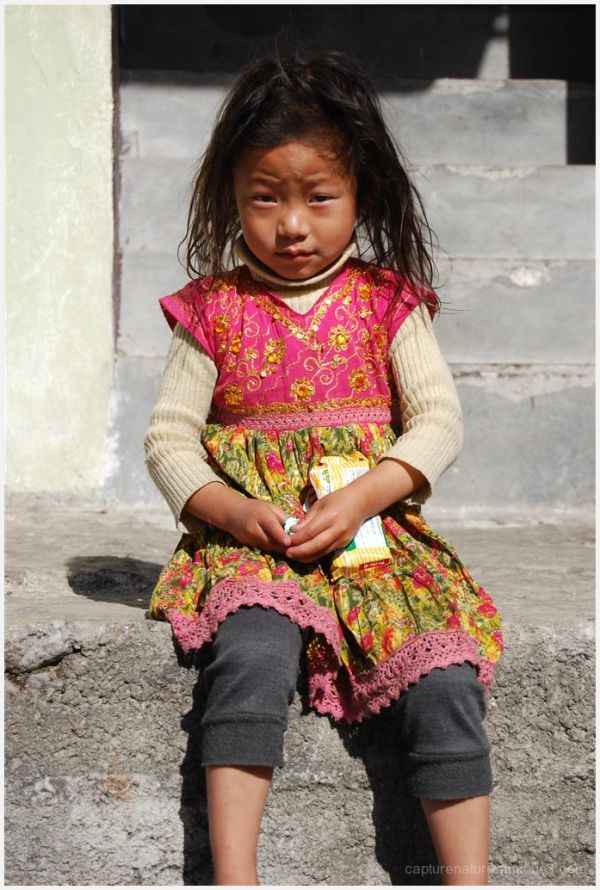 Lachen Sikkim India Lonely Child