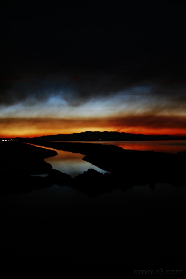 Darkness with sunset
