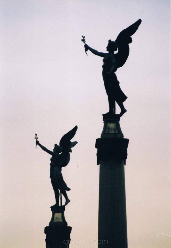 statues dusk Prague