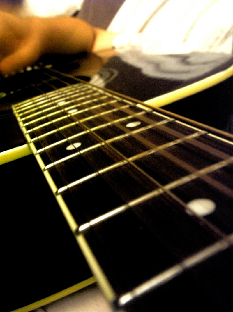 While my guitar gently weeps.