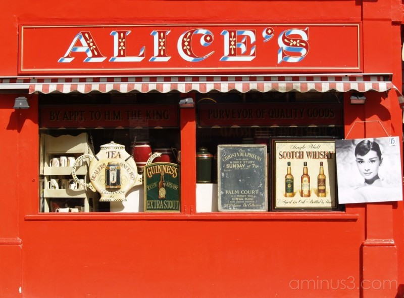 Alices antique shop, Notting Hill, London