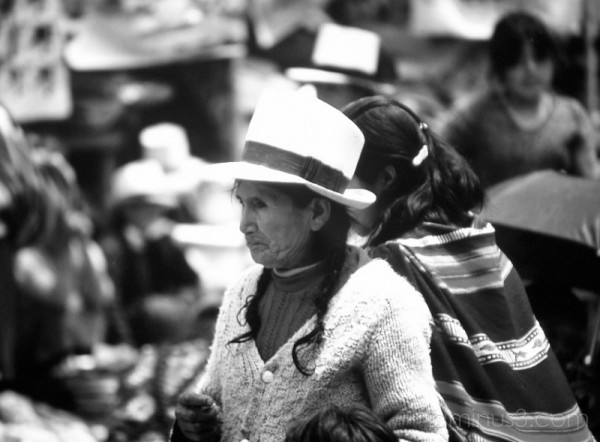 On the market at Pisac, Peru