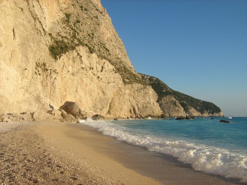Lefkada sea waves Porto Katsiki beach