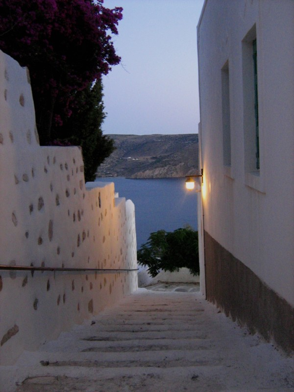 alley Astypalea Astypalaia island Dodecanese Greec