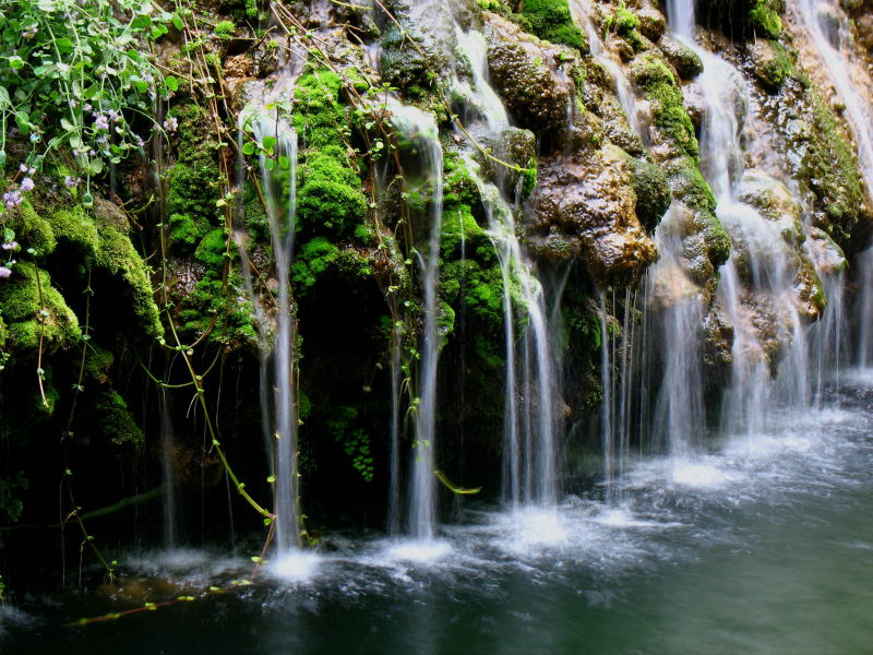 Polylimnio Waterfalls Charavgi Pylos Peloponnes