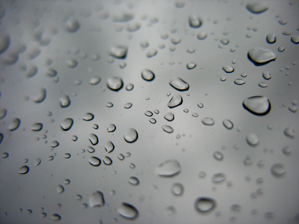 rain drops window car
