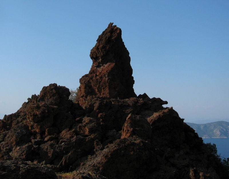 volcanic rocks Methana Greece