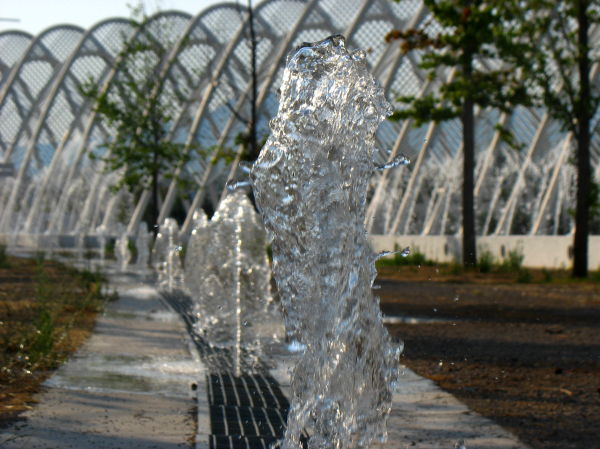 water splash  olympic stadium Athens OAKA