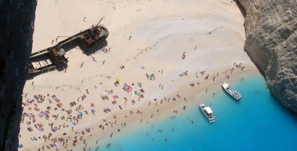 shipwreck beach navagio zakynthos island Greece