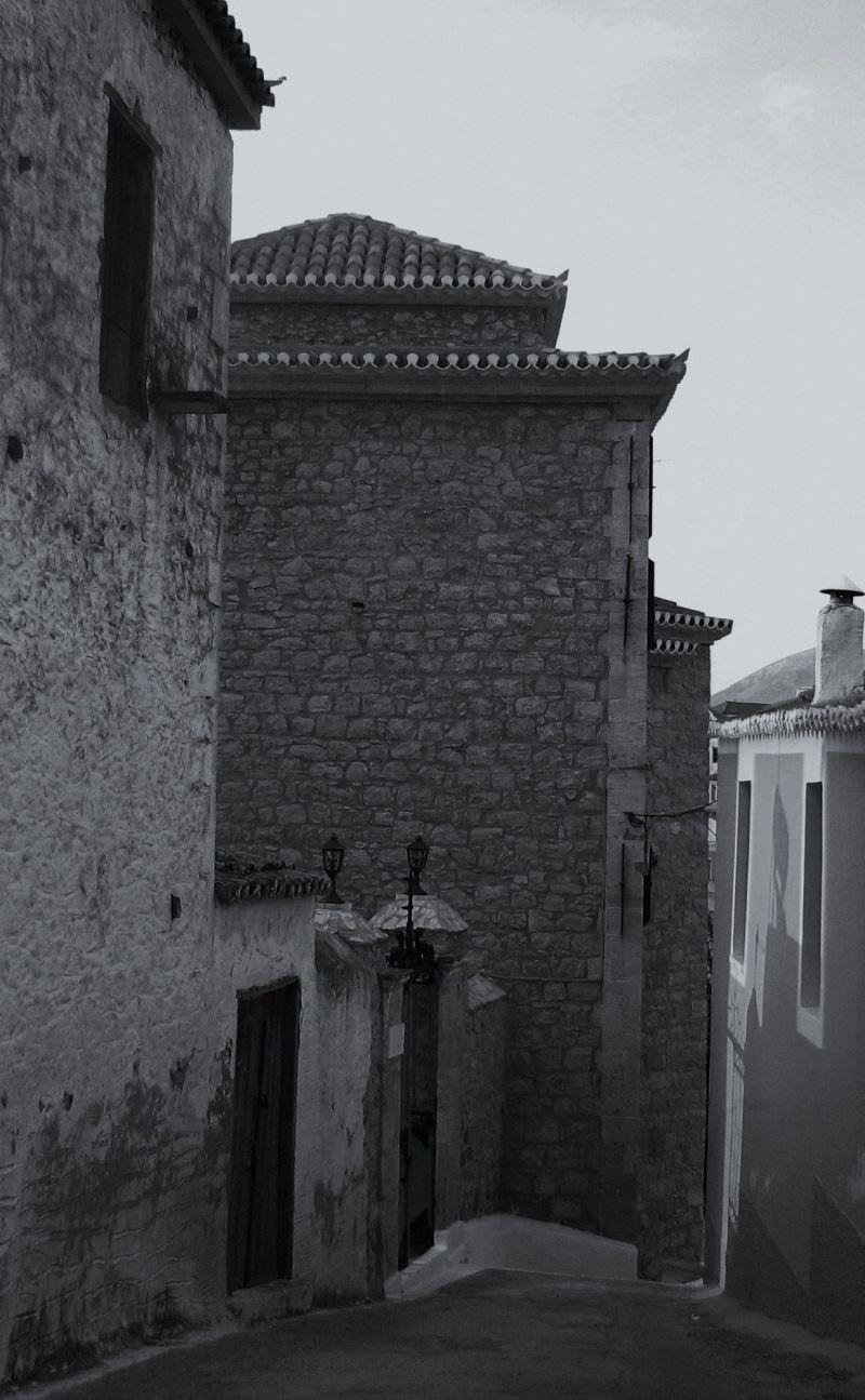 old street kranidi town peloponnese
