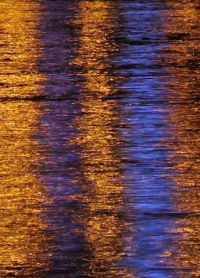 bridge lights water