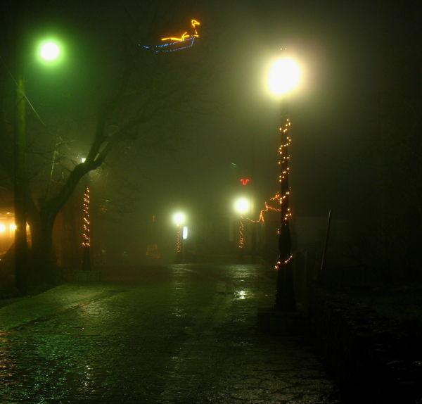zarouchla village peloponnese fog street