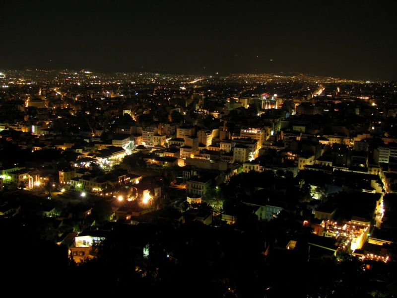 Athens by night August 2009