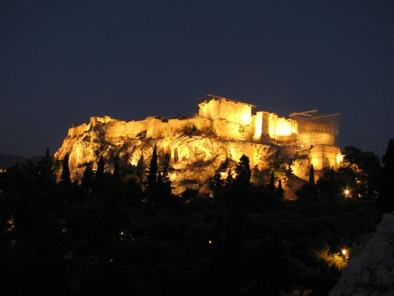 Acropolis Parthenon night view