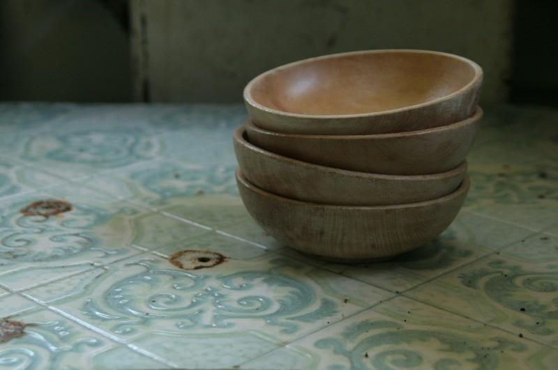 Sarah Guck stack of bowls on table Dan Dredger