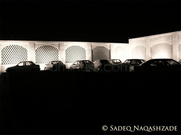 Cars meeting at night