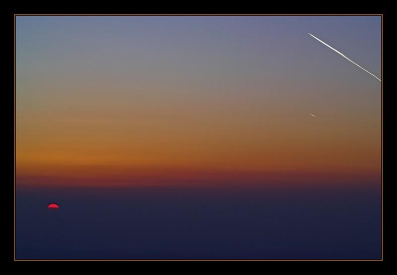 Sonnenuntergang, Feldberg/Ts.