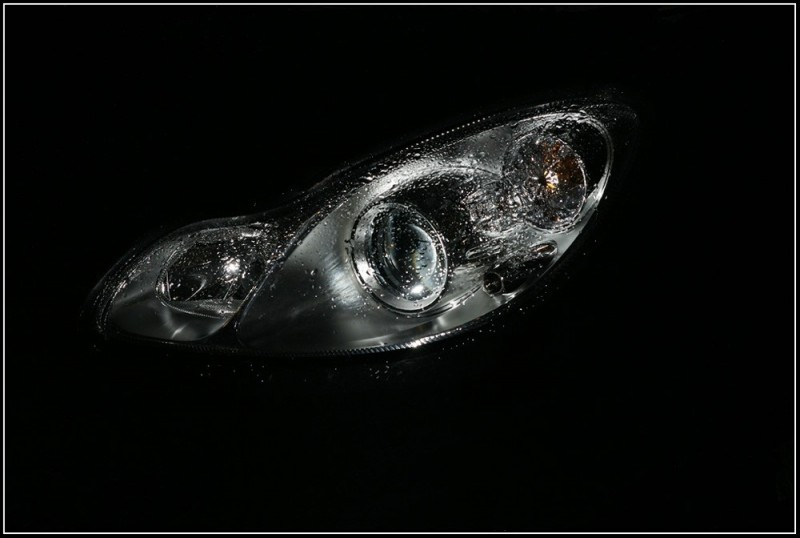 wet car-headlight