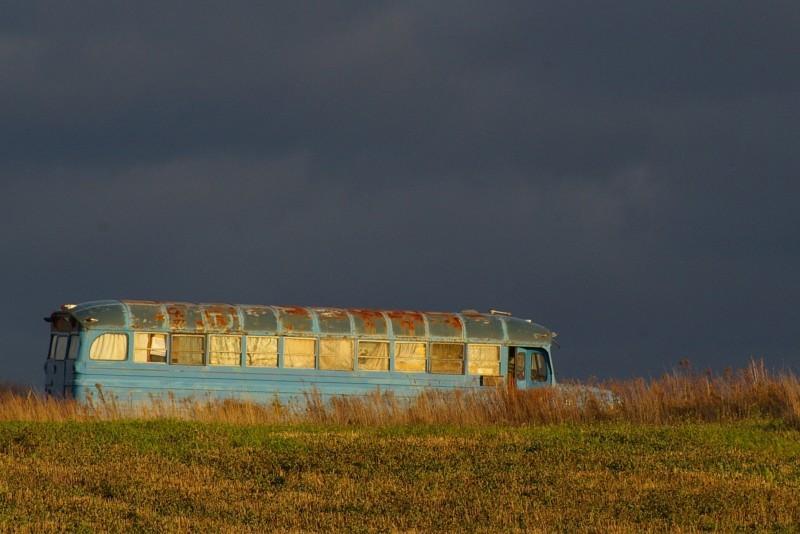 abandoned rusty bus