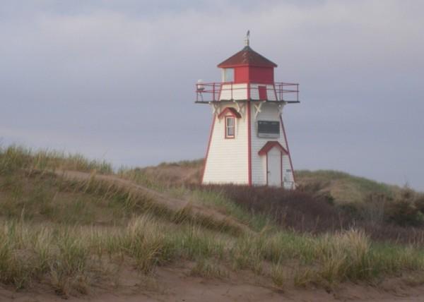 Covehead Lighthouse sand dunes