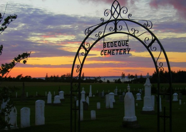 cemetery sunset
