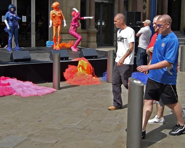 Drag act street photo