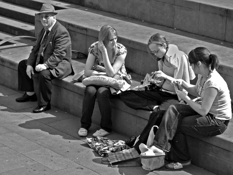 people photo showing age and generation contrasts