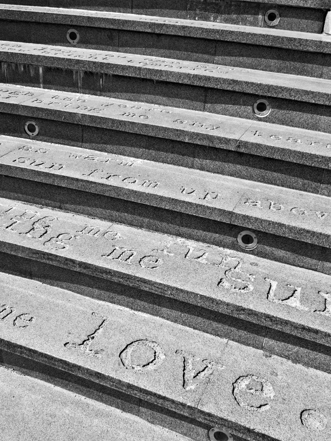 Love, engraving, stone, urban