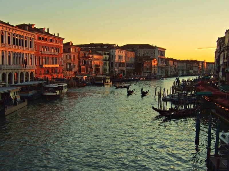 Sunset at the Grand Canal, Venice