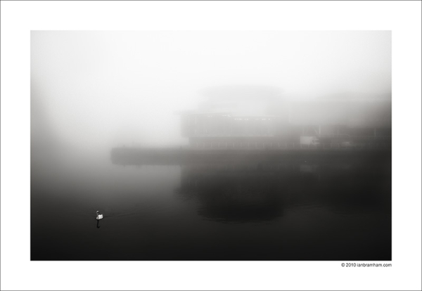 Salford Quays in the Mist