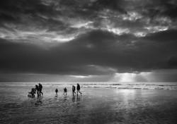 Blackpool Beach at Dusk