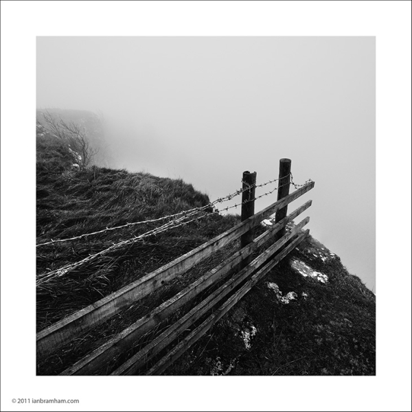 A fine art black and white photo from Malham Cove