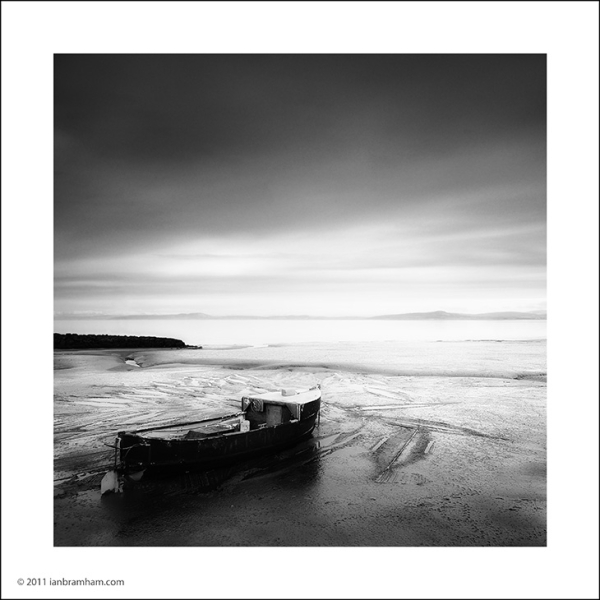 A black & white fine art photo from Morecambe Bay