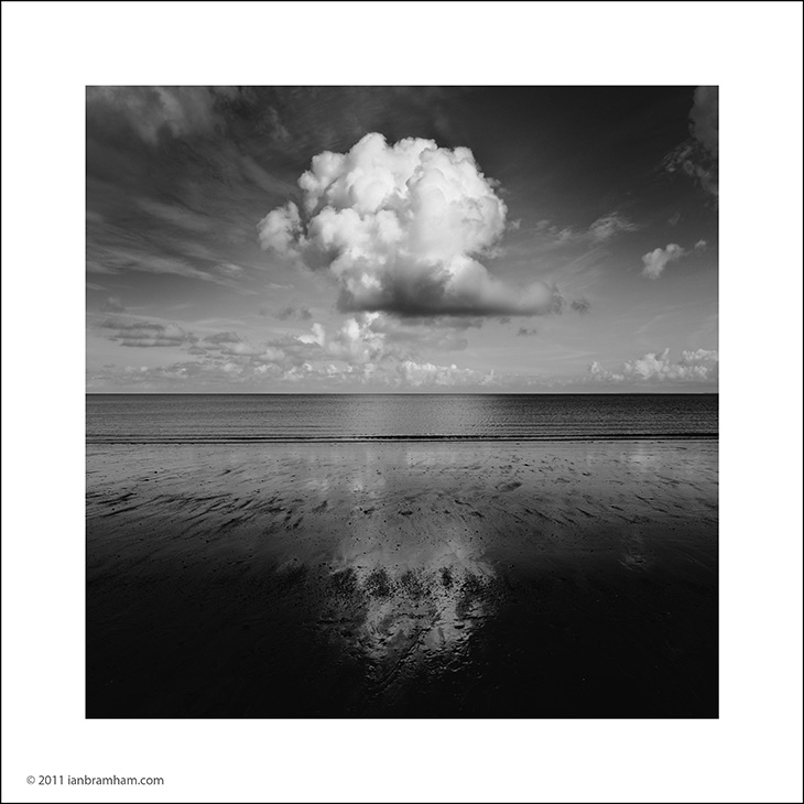 a black and white fine art photo of a cloud