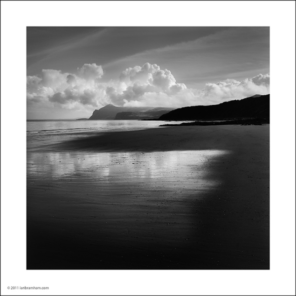 clouds and reflections, Morfa Nefyn beach
