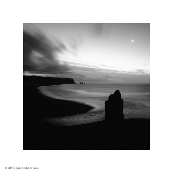 Moonrise at Vik, Iceland