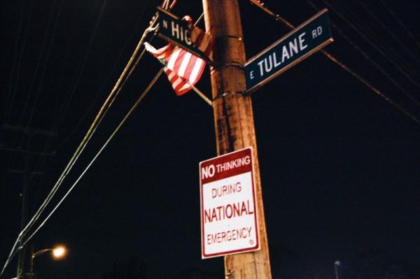 flag on a sign