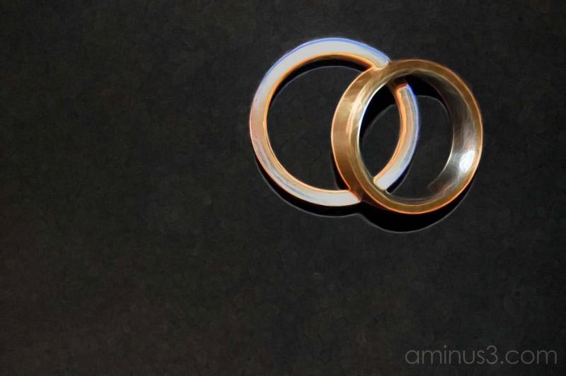 Three-act Wedding Ring - 3